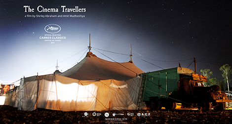"Affiche officielle du film ""The Cinema Travellers"""